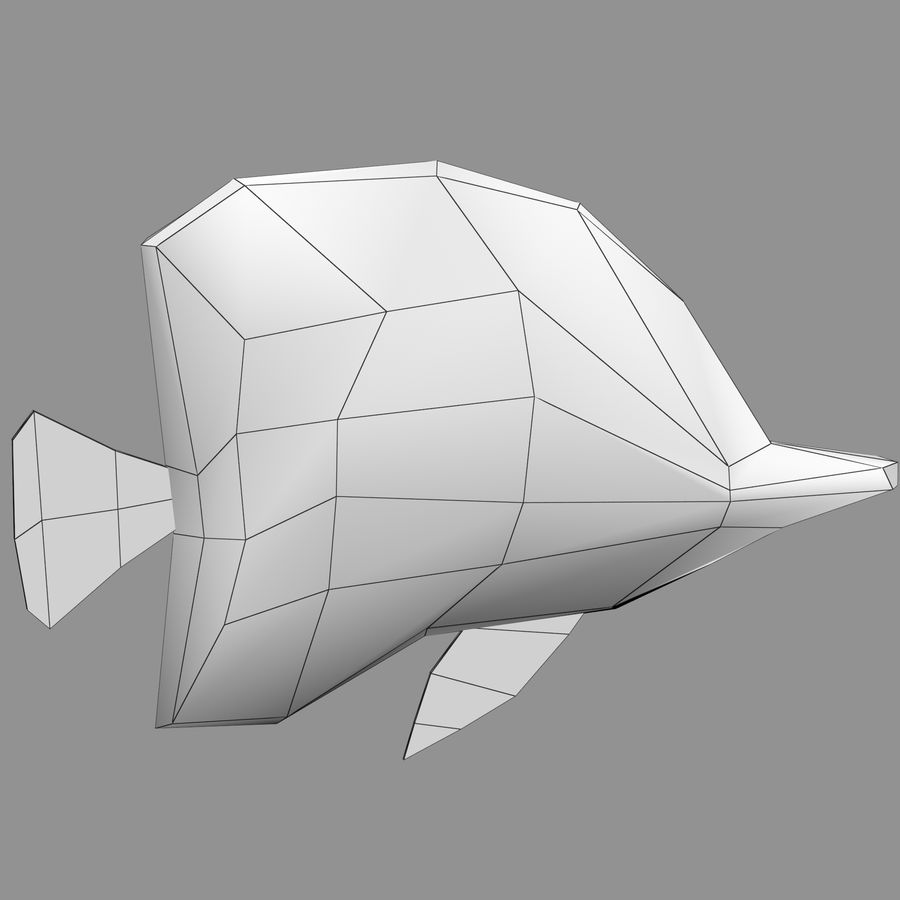 Aquarium Fish Collection Low Poly royalty-free 3d model - Preview no. 49