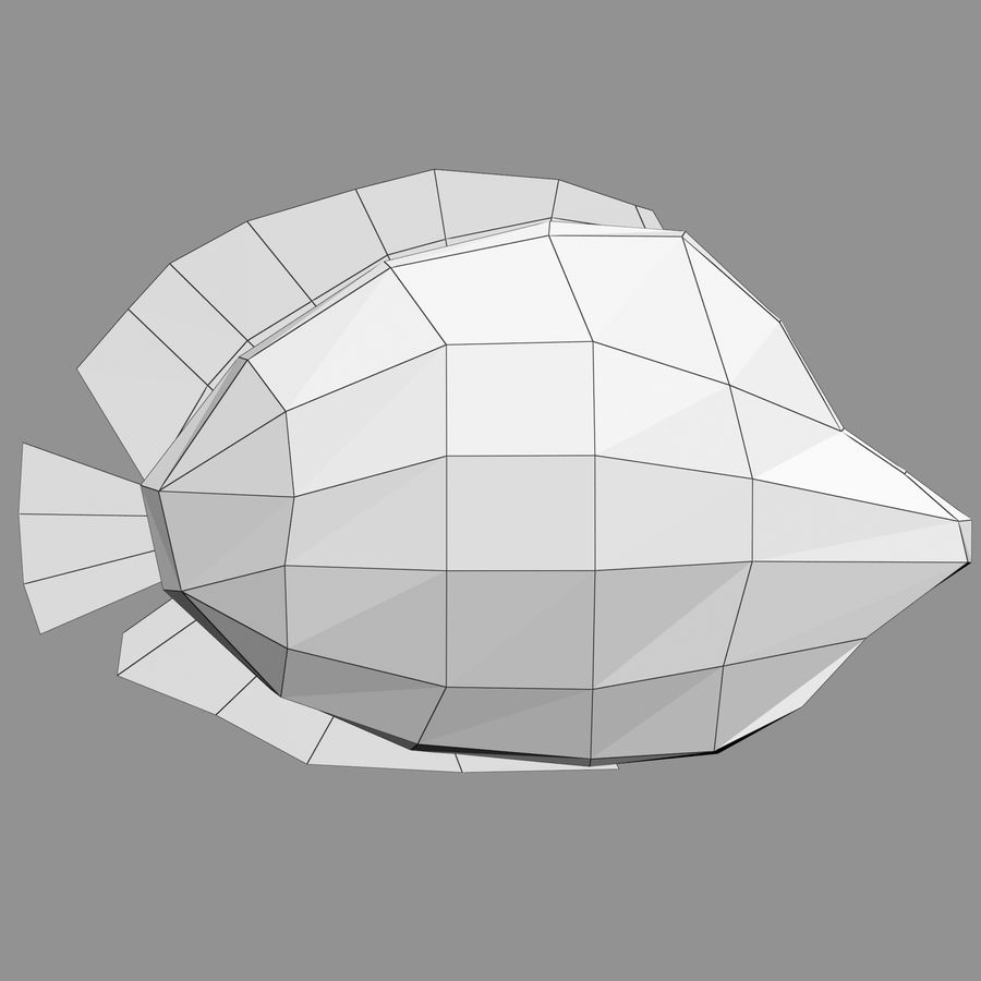 Aquarium Fish Collection Low Poly royalty-free 3d model - Preview no. 66