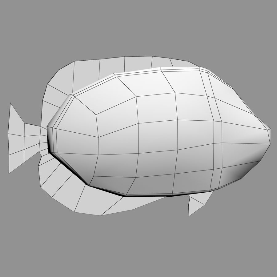 Aquarium Fish Collection Low Poly royalty-free 3d model - Preview no. 45
