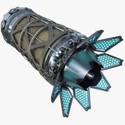 Science-Fiction-Raumschiffmotor 3d model