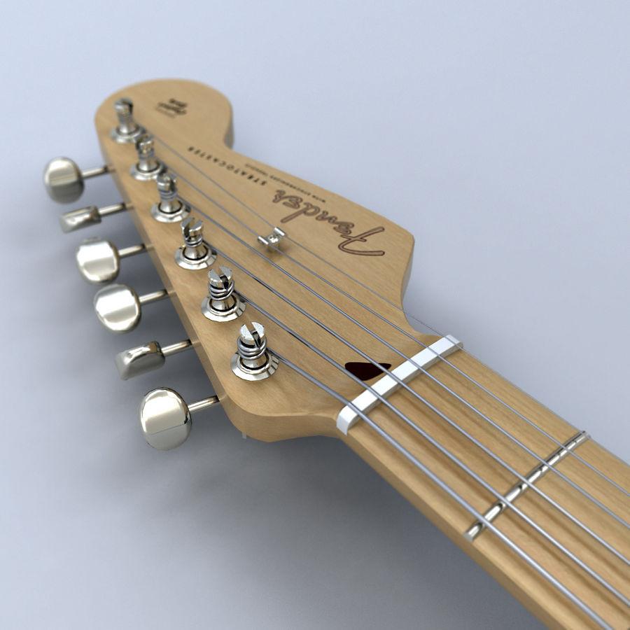 펜더 스트랫 기타 royalty-free 3d model - Preview no. 4