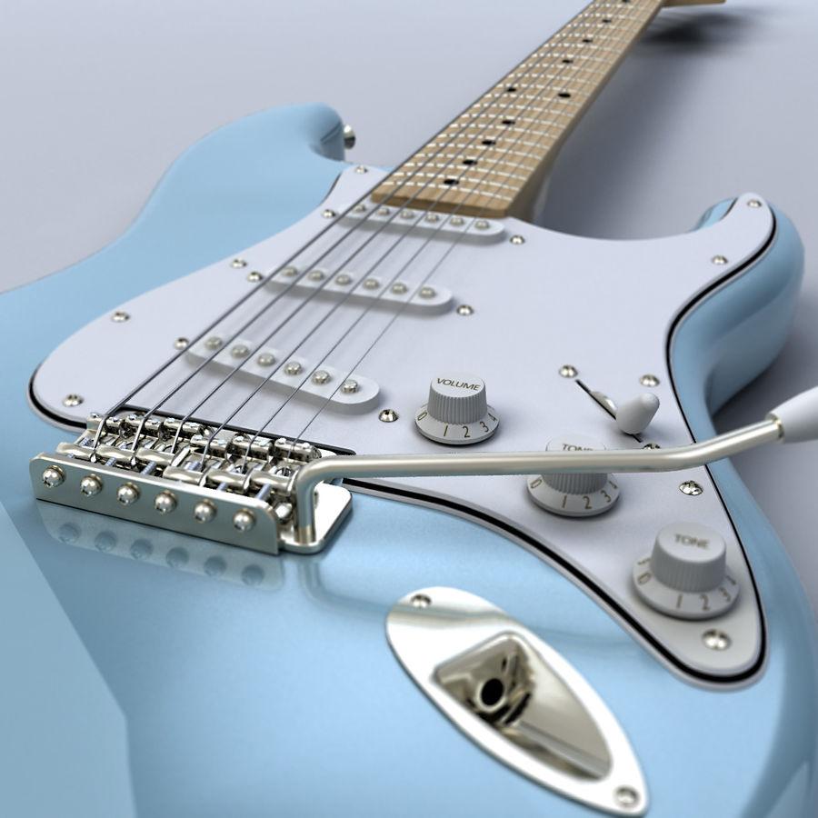 펜더 스트랫 기타 royalty-free 3d model - Preview no. 3