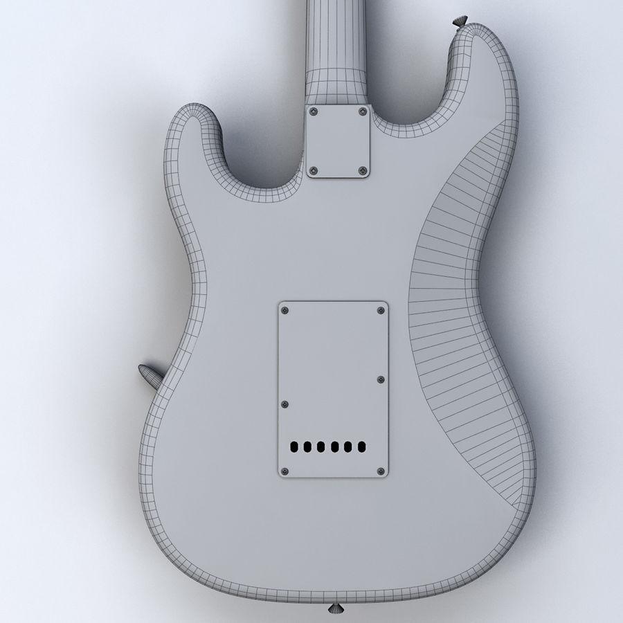 펜더 스트랫 기타 royalty-free 3d model - Preview no. 13
