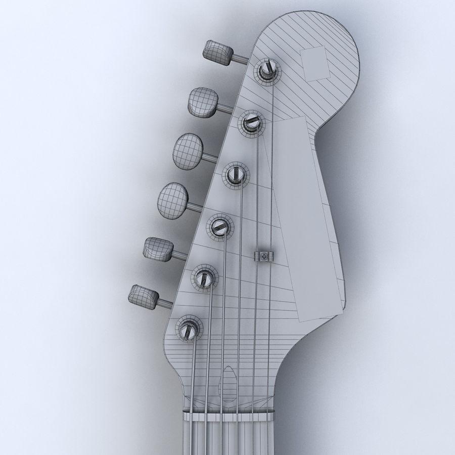 펜더 스트랫 기타 royalty-free 3d model - Preview no. 15