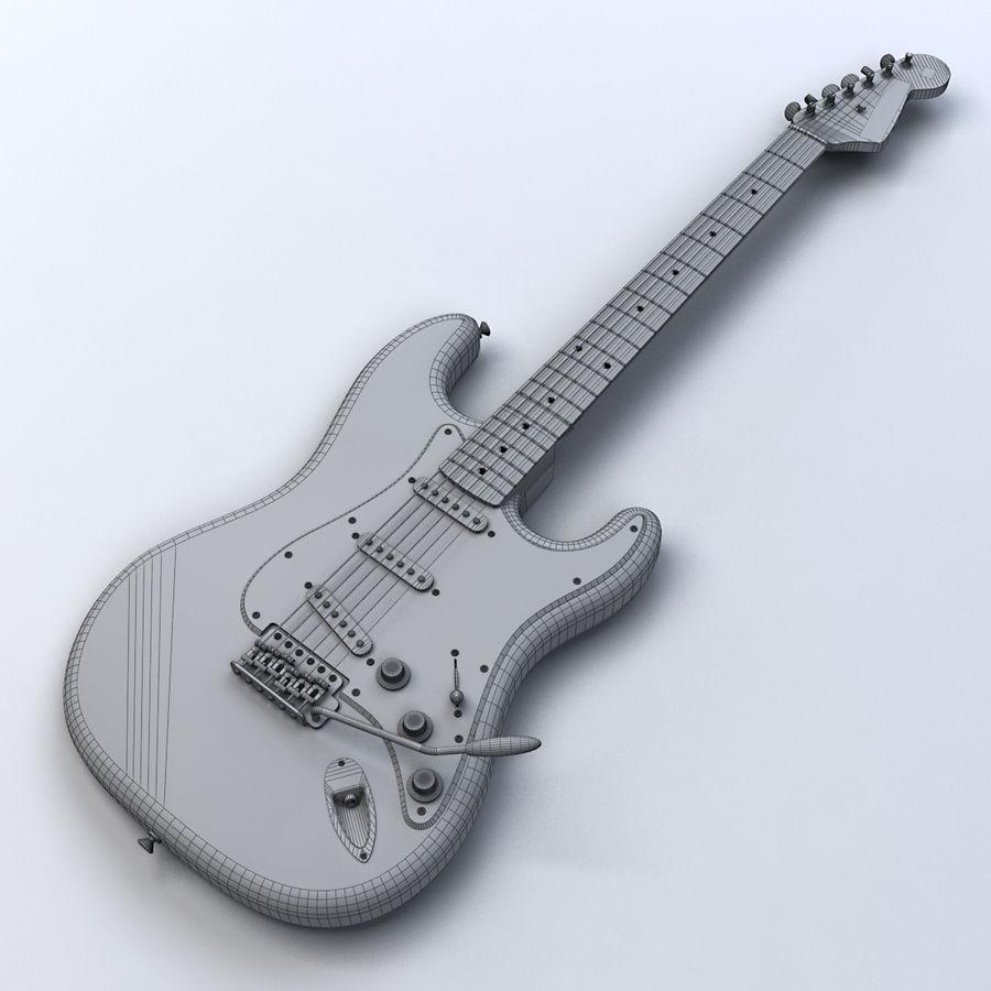 펜더 스트랫 기타 royalty-free 3d model - Preview no. 17