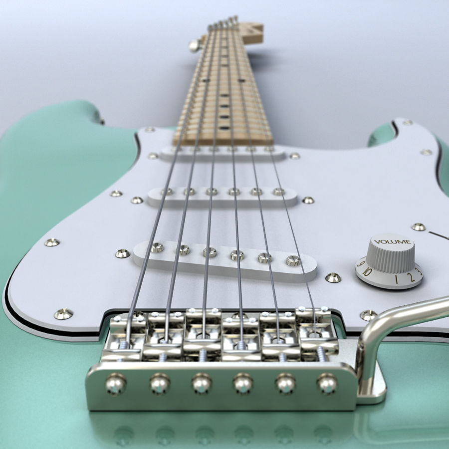 펜더 스트랫 기타 royalty-free 3d model - Preview no. 5