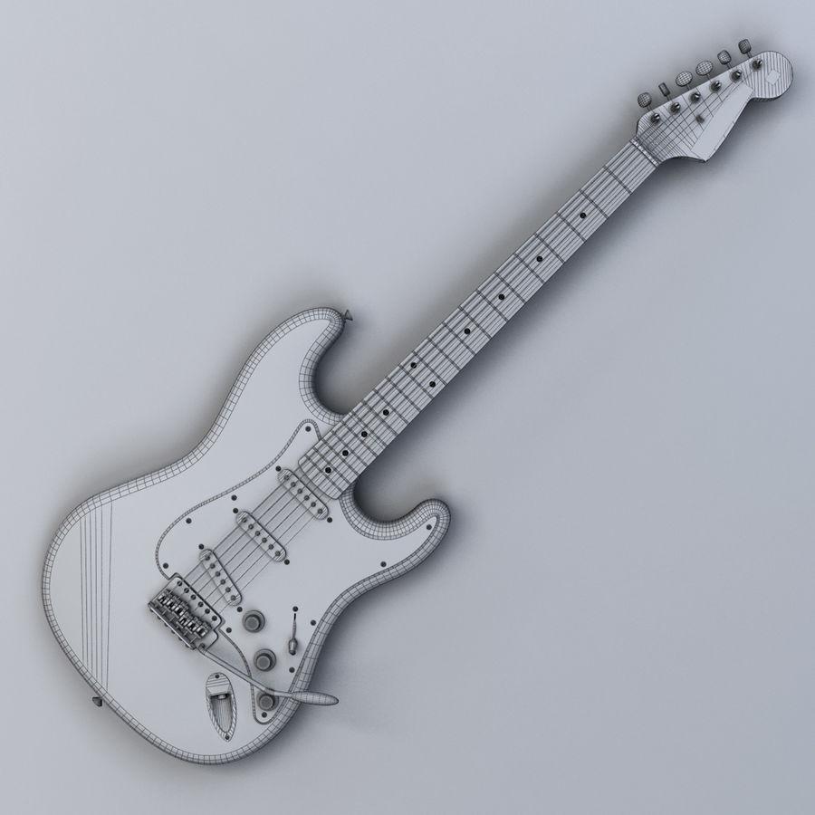 펜더 스트랫 기타 royalty-free 3d model - Preview no. 14