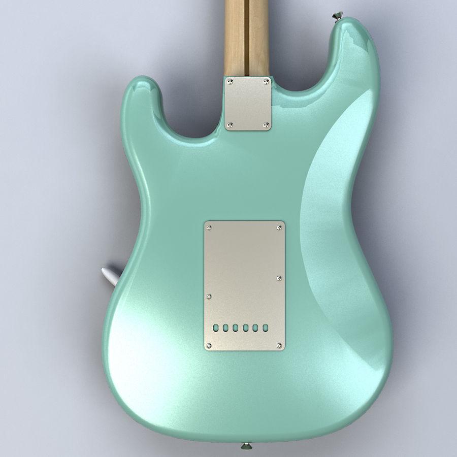 펜더 스트랫 기타 royalty-free 3d model - Preview no. 9