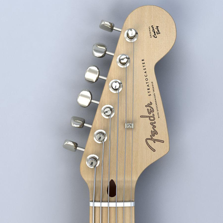 펜더 스트랫 기타 royalty-free 3d model - Preview no. 6