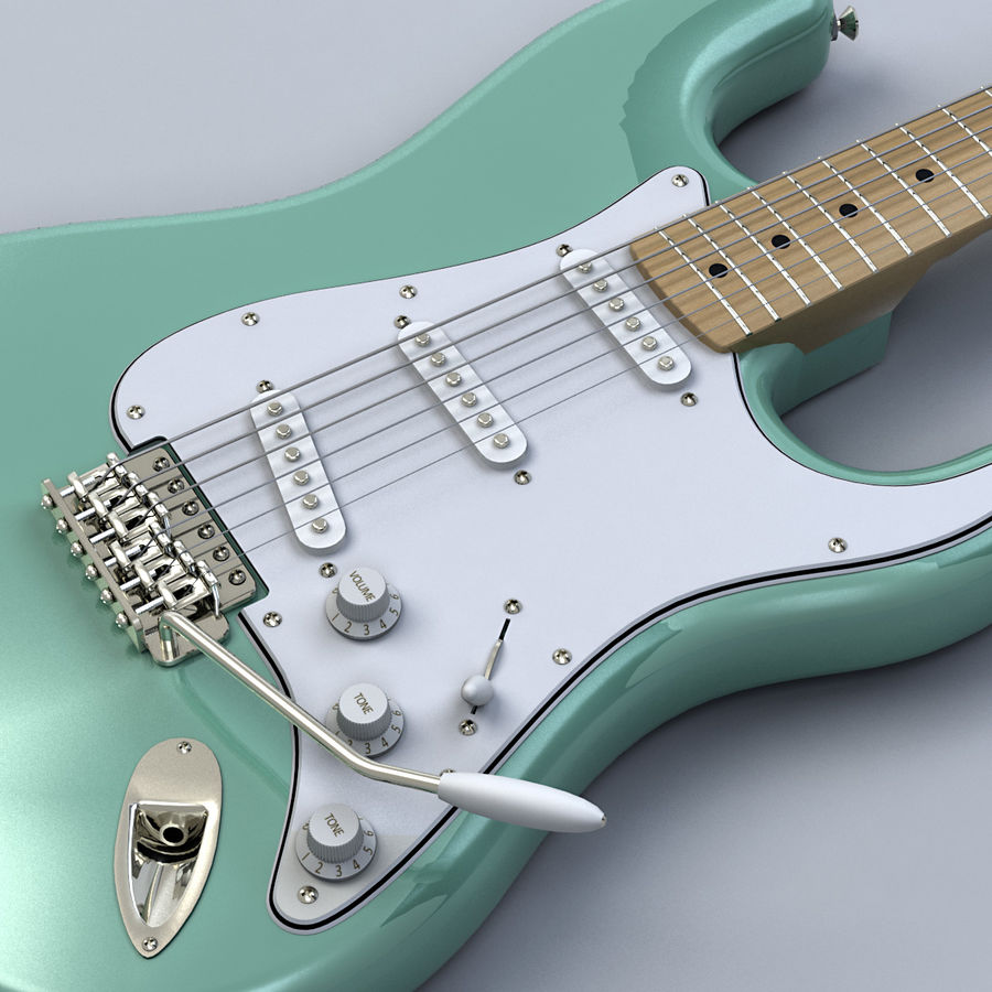 펜더 스트랫 기타 royalty-free 3d model - Preview no. 11