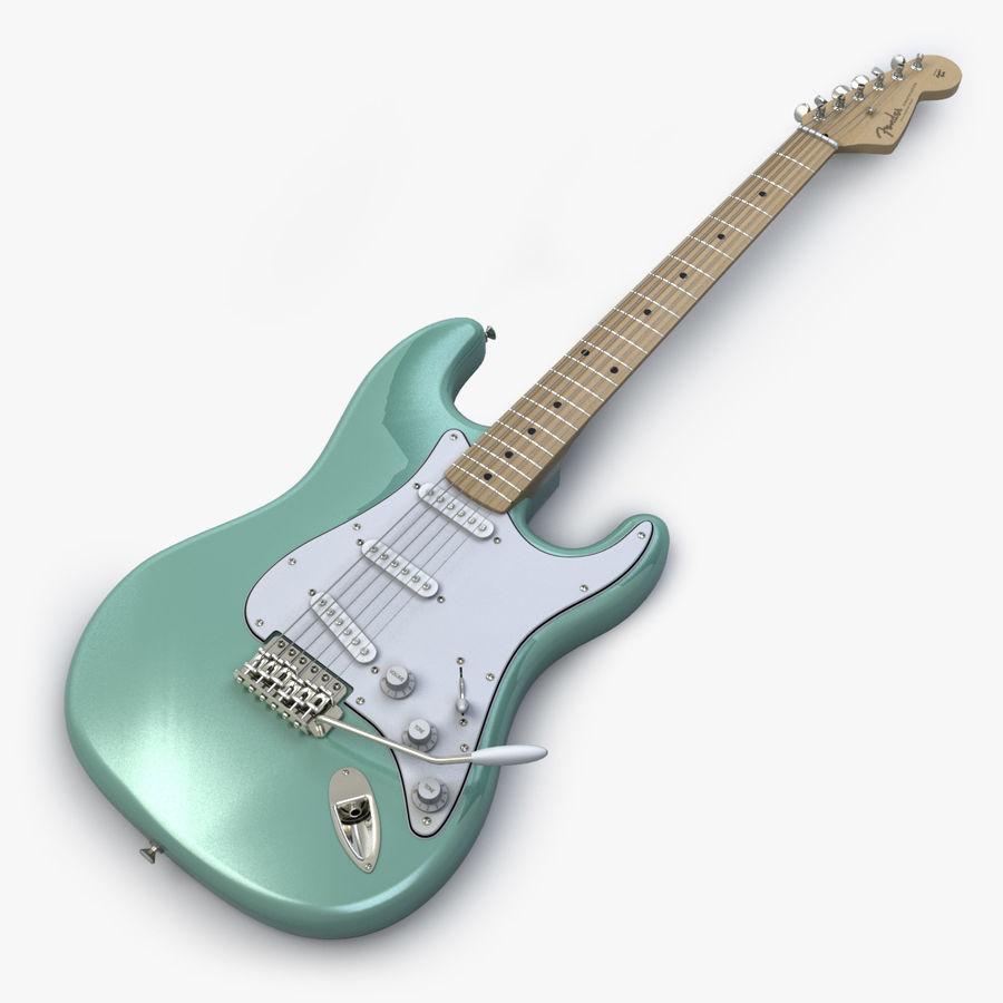 펜더 스트랫 기타 royalty-free 3d model - Preview no. 1