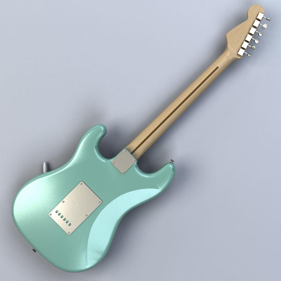 펜더 스트랫 기타 royalty-free 3d model - Preview no. 7