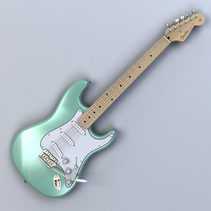 펜더 스트랫 기타 royalty-free 3d model - Preview no. 8