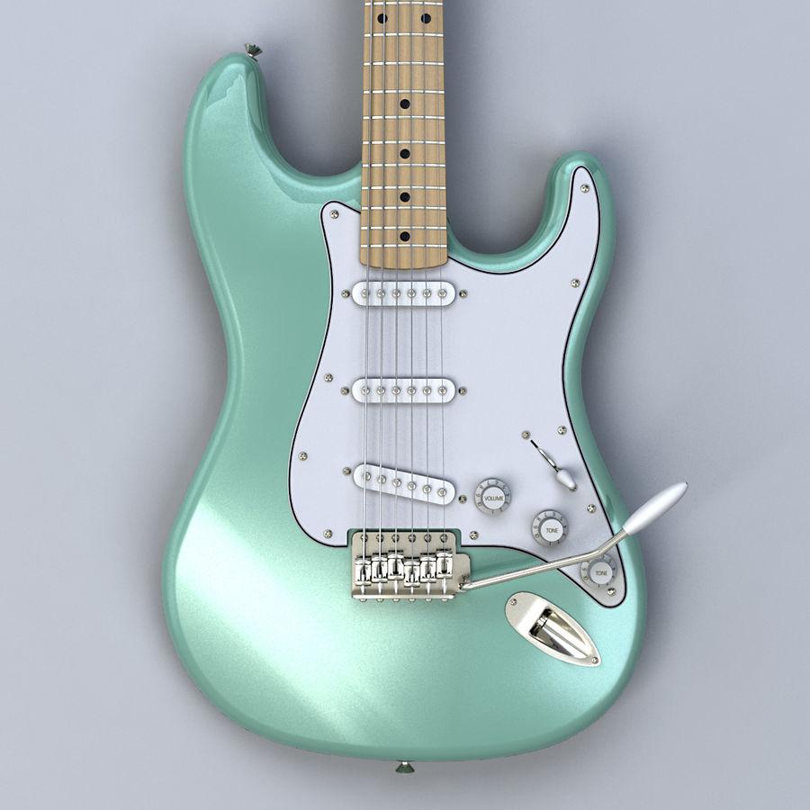 펜더 스트랫 기타 royalty-free 3d model - Preview no. 10