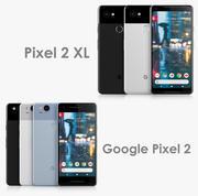 Google Pixel 2 XL y Google Pixel 2 modelo 3d