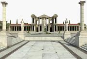 Forntida grekiska tempel 3d model