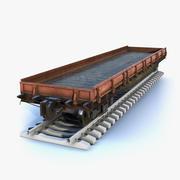 Düz Vagon 3d model