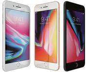 Apple iPhone 8 Plusすべての色 3d model