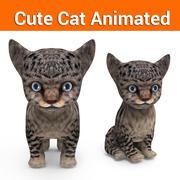 cute kitten cat animated 3d model