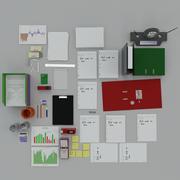 Office clutter 3d model