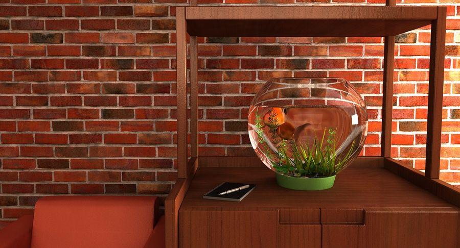 Gold Fish Aquarium Animated royalty-free 3d model - Preview no. 5