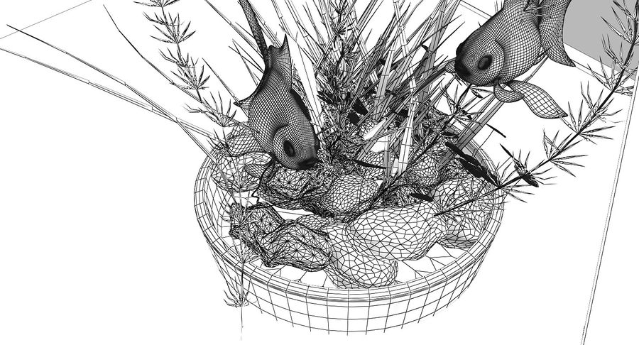 Gold Fish Aquarium Animated royalty-free 3d model - Preview no. 19