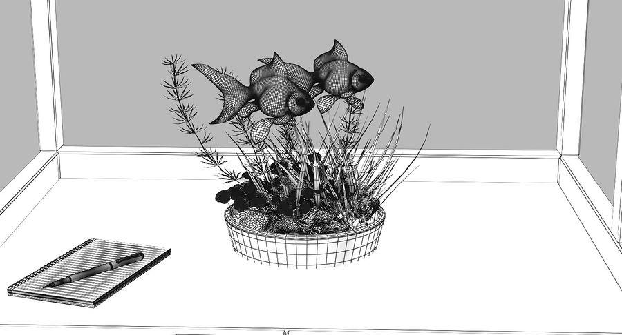 Gold Fish Aquarium Animated royalty-free 3d model - Preview no. 20