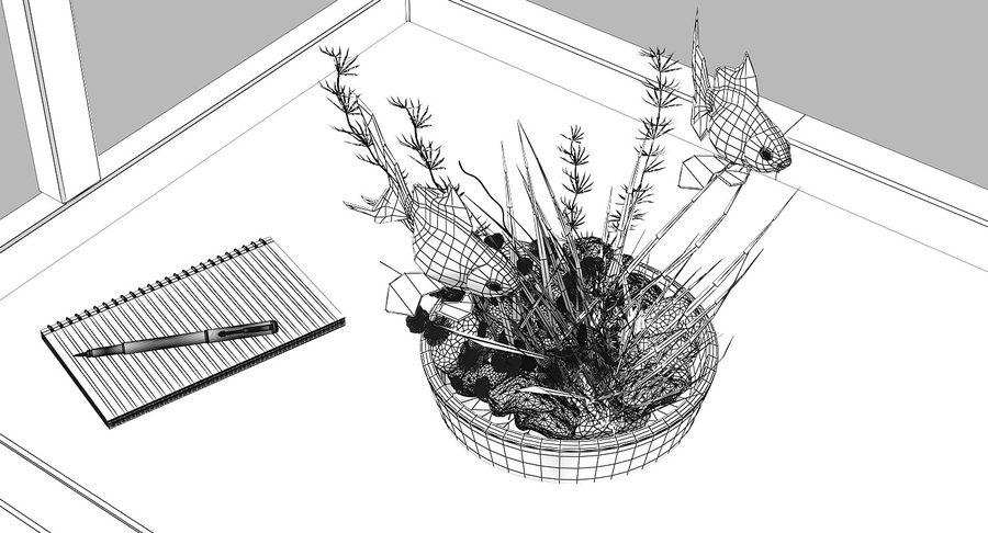 Gold Fish Aquarium Animated royalty-free 3d model - Preview no. 17