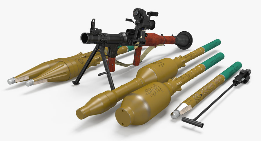 RPG-7 royalty-free 3d model - Preview no. 2