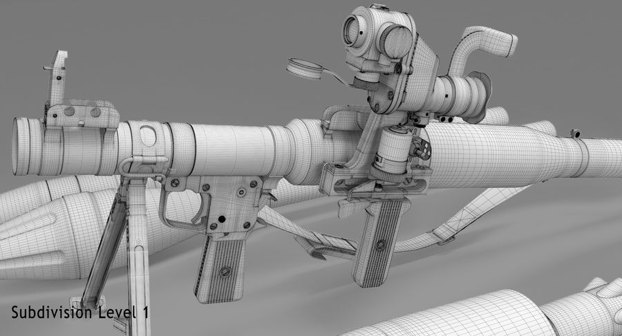 RPG-7 royalty-free 3d model - Preview no. 31
