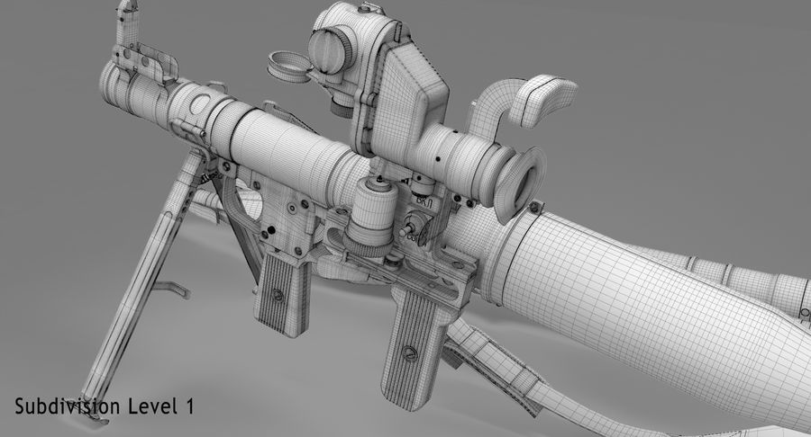 RPG-7 royalty-free 3d model - Preview no. 33