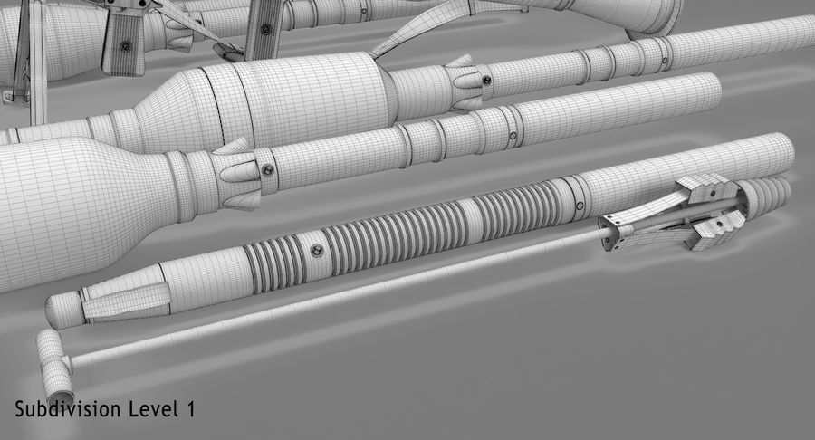 RPG-7 royalty-free 3d model - Preview no. 29