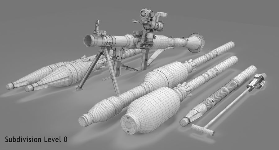 RPG-7 royalty-free 3d model - Preview no. 26