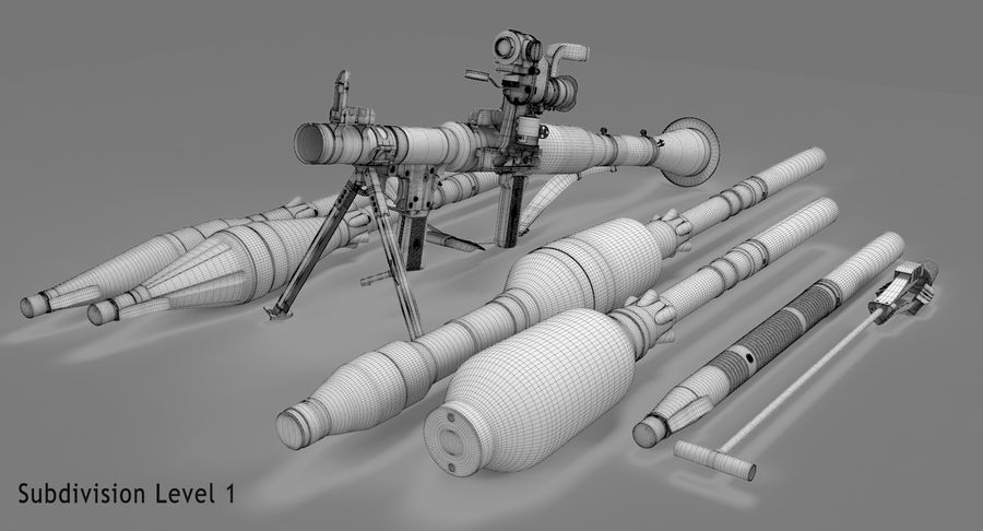 RPG-7 royalty-free 3d model - Preview no. 27