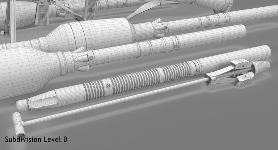 RPG-7 royalty-free 3d model - Preview no. 28
