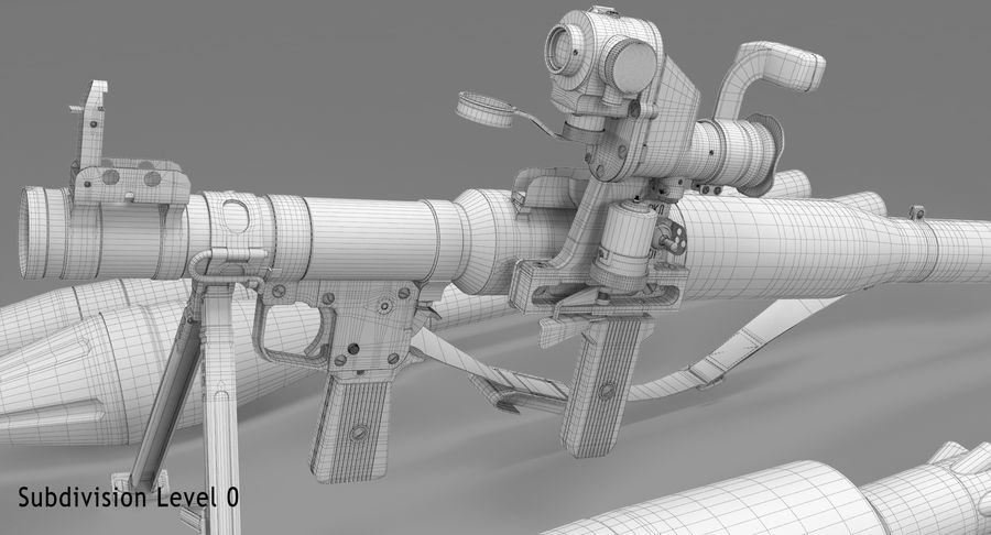 RPG-7 royalty-free 3d model - Preview no. 30