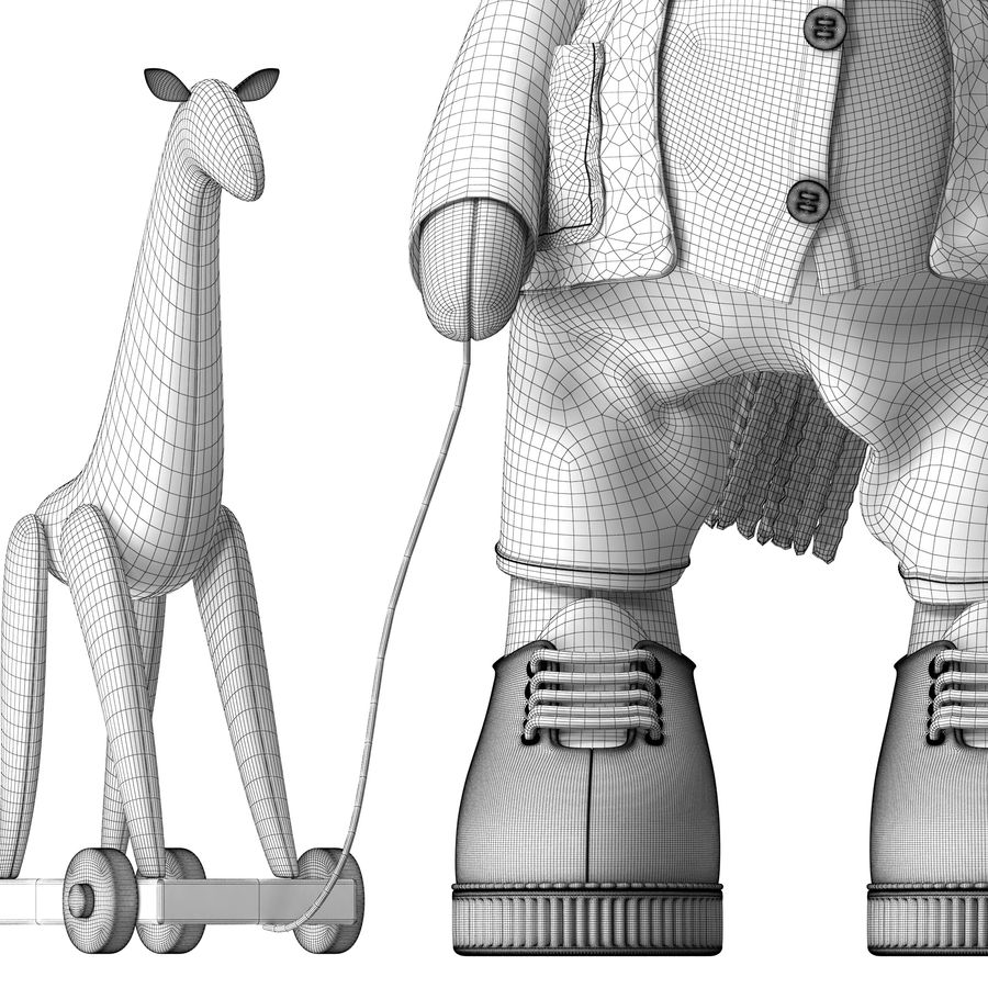 Giraffe Toy royalty-free 3d model - Preview no. 18