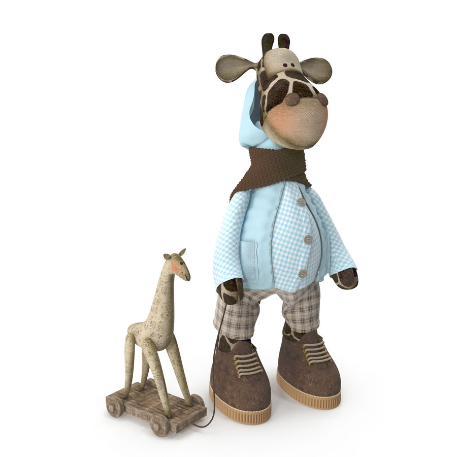 Giraffe Toy royalty-free 3d model - Preview no. 2