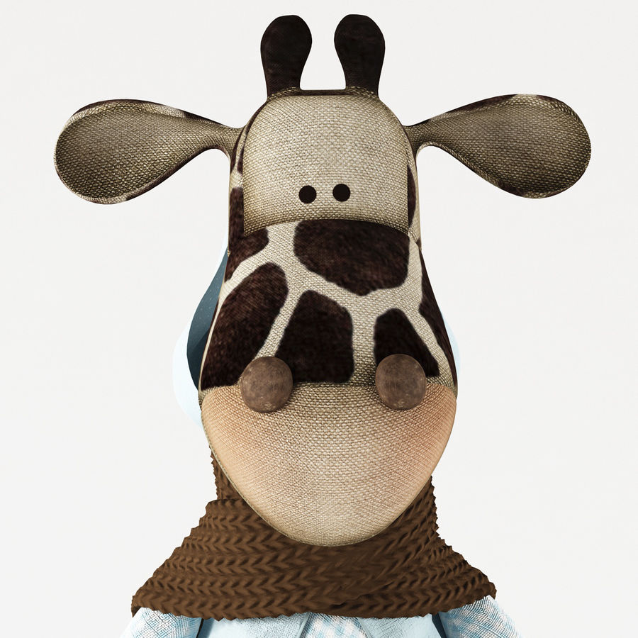 Giraffe Toy royalty-free 3d model - Preview no. 10