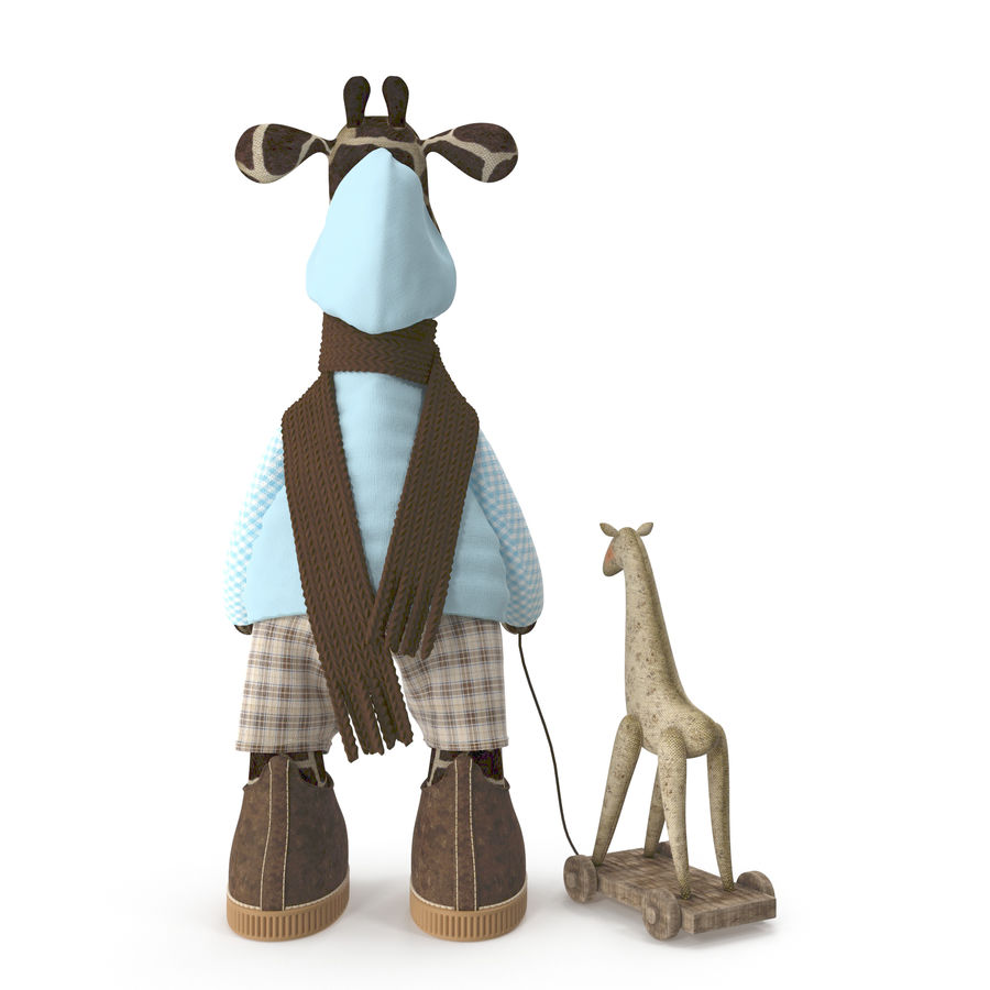 Giraffe Toy royalty-free 3d model - Preview no. 4