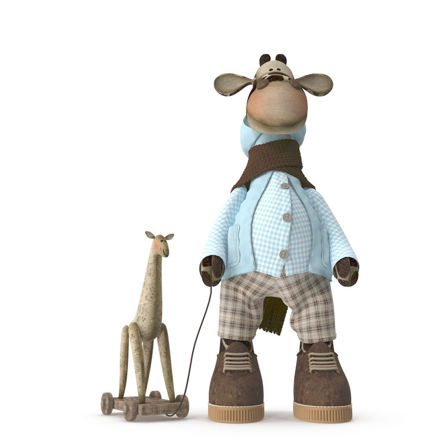 Giraffe Toy royalty-free 3d model - Preview no. 6