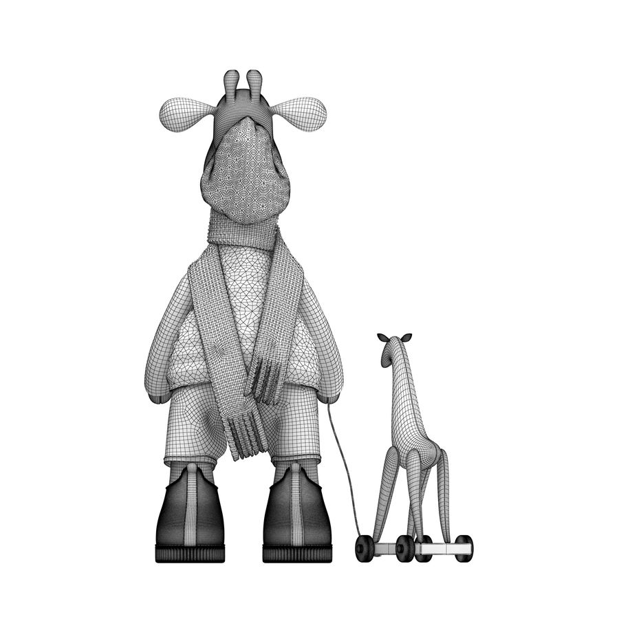 Giraffe Toy royalty-free 3d model - Preview no. 16