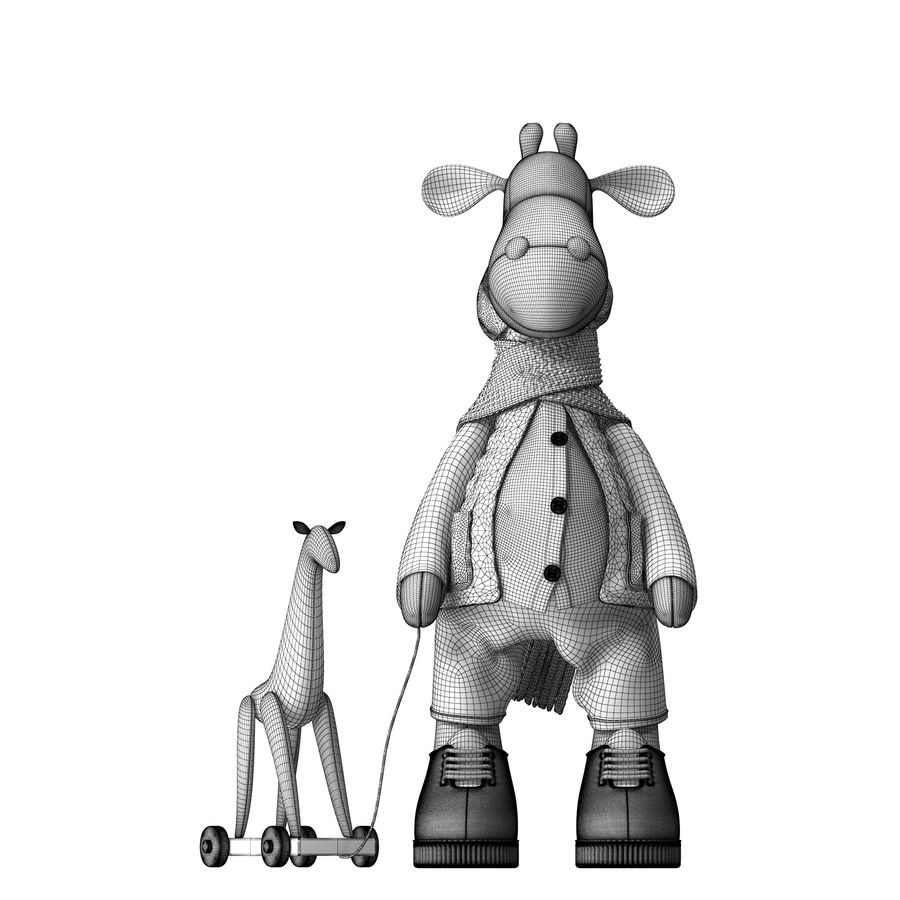 Giraffe Toy royalty-free 3d model - Preview no. 14