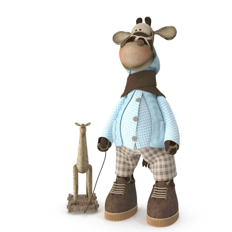 Giraffe Toy royalty-free 3d model - Preview no. 3