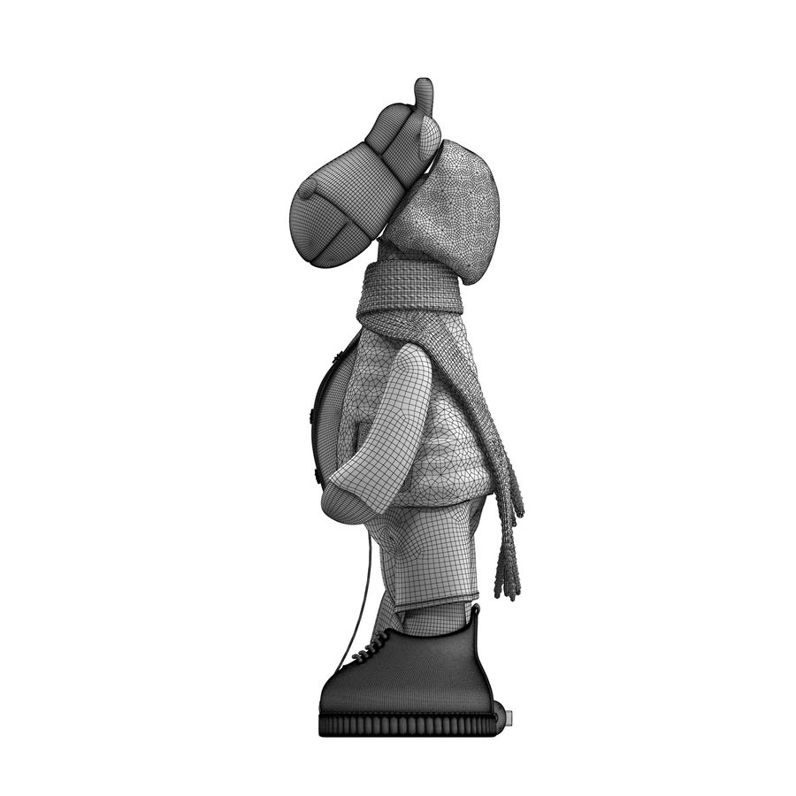 Giraffe Toy royalty-free 3d model - Preview no. 17