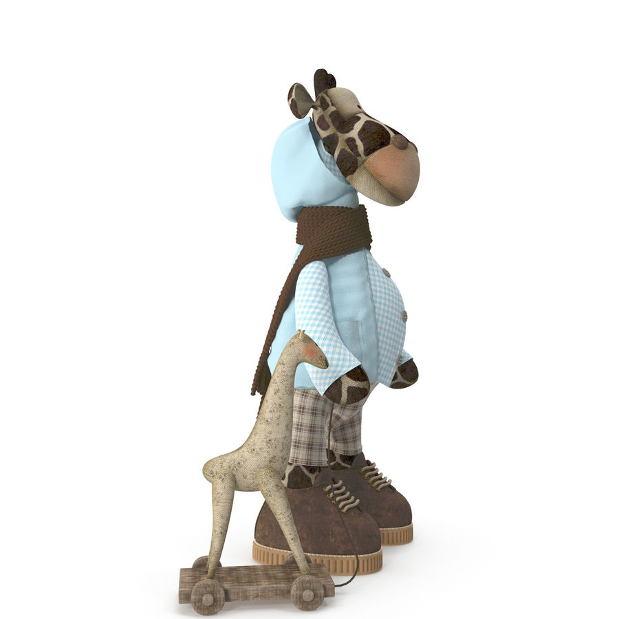 Giraffe Toy royalty-free 3d model - Preview no. 5