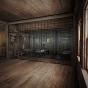 Gamla västra fängelse 3d model