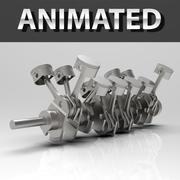 Engine V12 Animated 3d model