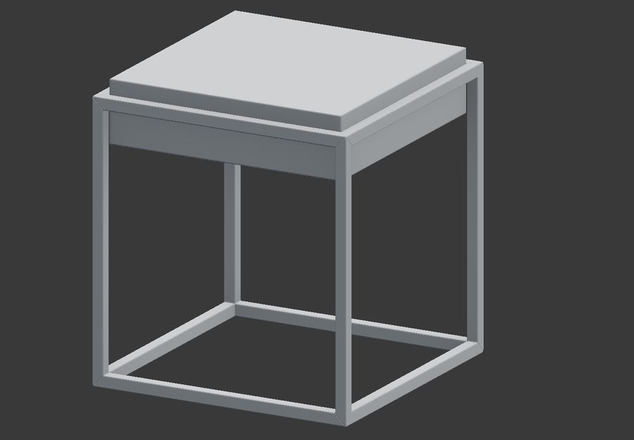 Nowoczesna szafka nocna royalty-free 3d model - Preview no. 5