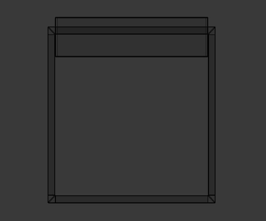 Nowoczesna szafka nocna royalty-free 3d model - Preview no. 8